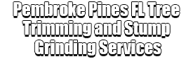 Pembroke Pines FL Tree Trimming and Stump Grinding Services Logo-We Offer Tree Trimming Services, Tree Removal, Tree Pruning, Tree Cutting, Residential and Commercial Tree Trimming Services, Storm Damage, Emergency Tree Removal, Land Clearing, Tree Companies, Tree Care Service, Stump Grinding, and we're the Best Tree Trimming Company Near You Guaranteed!